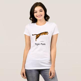 T-shirt de maman de tigre - tigre moderne de saut