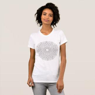 T-shirt de mandala de fille
