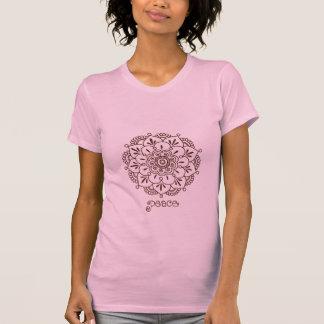 T-shirt de mandala de fleur de henné