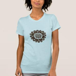 T-shirt de mandala de fleur de style de henné