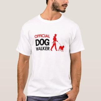 T-shirt de marcheur de chien de bouledogue