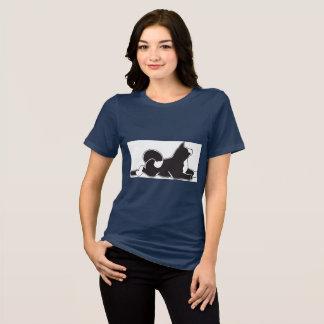 T-shirt de MARS Akita des femmes de marine