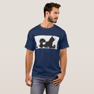 T-shirt de MARS de la marine des hommes