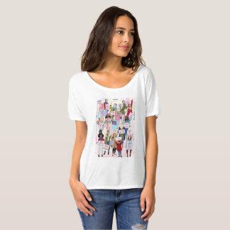 T-shirt de mars des femmes