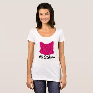 T-shirt de mars des femmes de casquette de chat