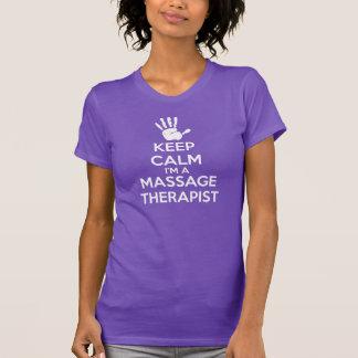 T-shirt de massage : Gardez le calme, thérapeute
