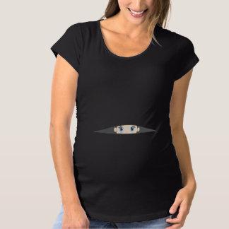 T-Shirt De Maternité Bébé jetant un coup d'oeil la chemise de maternité