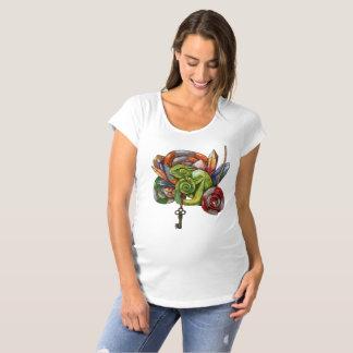 T-Shirt De Maternité caméléon et cristaux