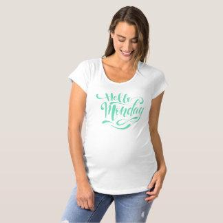 T-Shirt De Maternité Chemise de maternité lunatique mignonne de lundi |