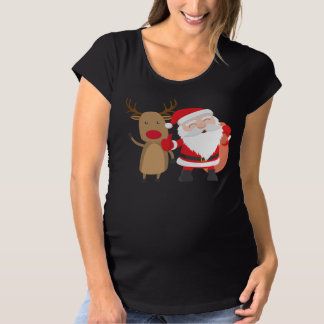 T-Shirt De Maternité Chemise très mignonne de maternité du père noël et