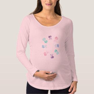 T-shirt de maternité de douille de méduses long