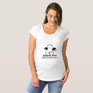 T-Shirt De Maternité Diable timide mignon au sujet de temps