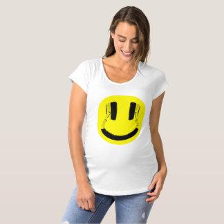 T-Shirt De Maternité Écouteurs de sourire