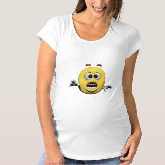 T-Shirt De Maternité Émoticône jaune ou smiley de crainte