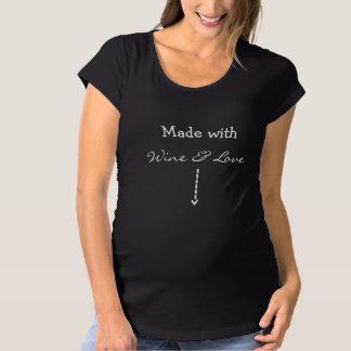 T-Shirt De Maternité Fait avec le vin et amour