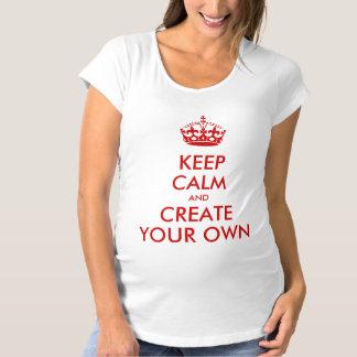 T-Shirt De Maternité Gardez le calme et continuez créent votre propre
