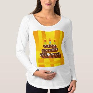T-Shirt De Maternité Gâteau de joyeux anniversaire d'illustration avec