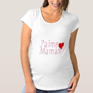 """T-Shirt de Maternité """"J'aime Maman"""""""