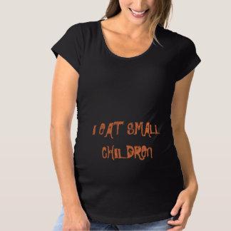 T-Shirt De Maternité Je mange la petite chemise de Halloween de