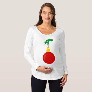 T-Shirt De Maternité Main de maternité de vert d'ornement de chemise de