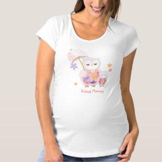 T-Shirt De Maternité Maman et bébé mignons de hibou confortables