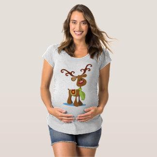 T-Shirt De Maternité Maternité très mignonne Shir de Noël de renne