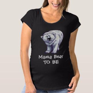 T-Shirt De Maternité Ours blanc mignon pour la maman