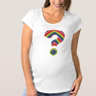 T-Shirt De Maternité Point d'interrogation d'arc-en-ciel
