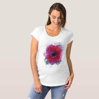 T-shirt de maternité romantique #1 de pavot rouge