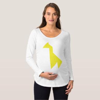 T-Shirt De Maternité Tangram jaune de girafe