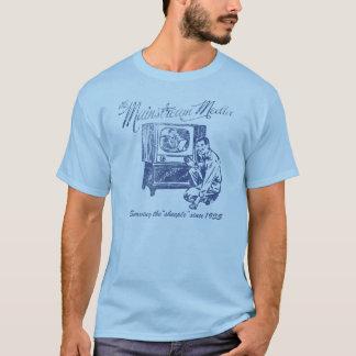 T-shirt de médias de courant principal