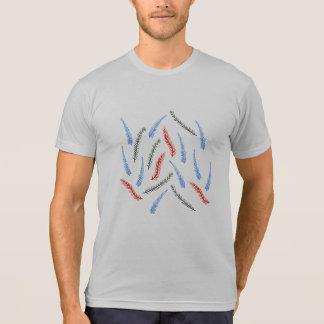 T-shirt de mélange du Poly-Coton des hommes de