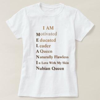 T-shirt de mélanine