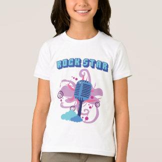 T-shirt de microphone de vedette du rock