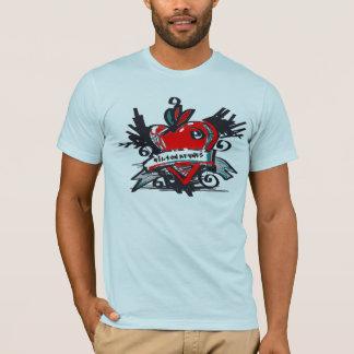 T-shirt de Milton Keynes de tatouage de coeur