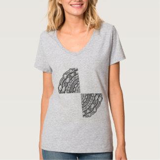 T-shirt de mise en couches de mandala