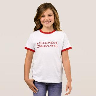 T-shirt de mise en tambour sain de filles