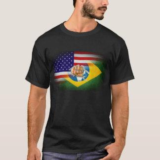 T-shirt de MIXED MARTIAL ART de fusion de drapeau