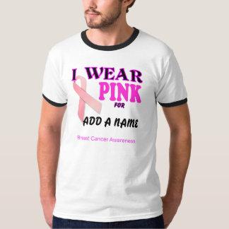 T-shirt de modèle de conscience de cancer du sein