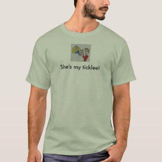 """T-shirt de mon Ticklee des hommes de W2T """"elle"""