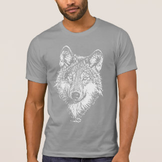 T-shirt de monochrome de loup