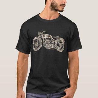 T-shirt de moto rempli par texte vintage