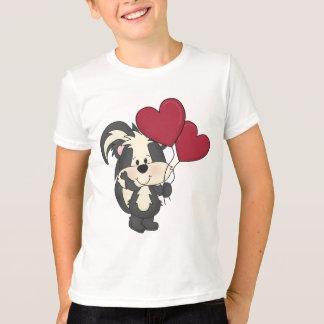 T-shirt de mouffette de Saint-Valentin