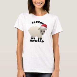 T-shirt de moutons de Feliz Navidad d'ouatine de