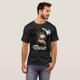 T-shirt de musique de hibou de paille