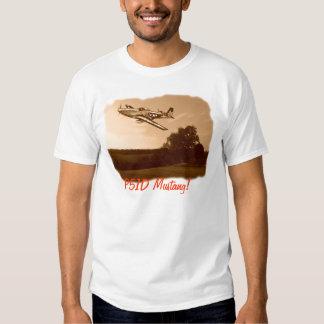T-shirt de mustang de P51D