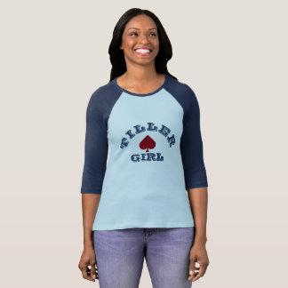 "T-shirt de Narrowboating ""de fille de talle"""