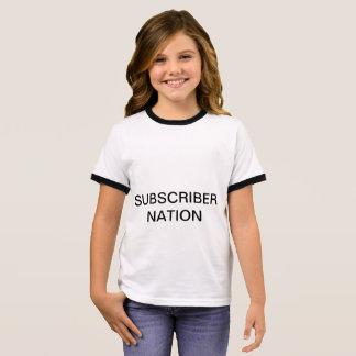 T-shirt de nation d'abonné de sonneries de FILLES