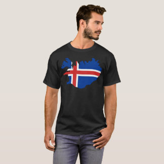 T-shirt de nation de l'Islande