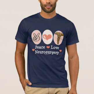 T-shirt de neurochirurgie d'amour de paix